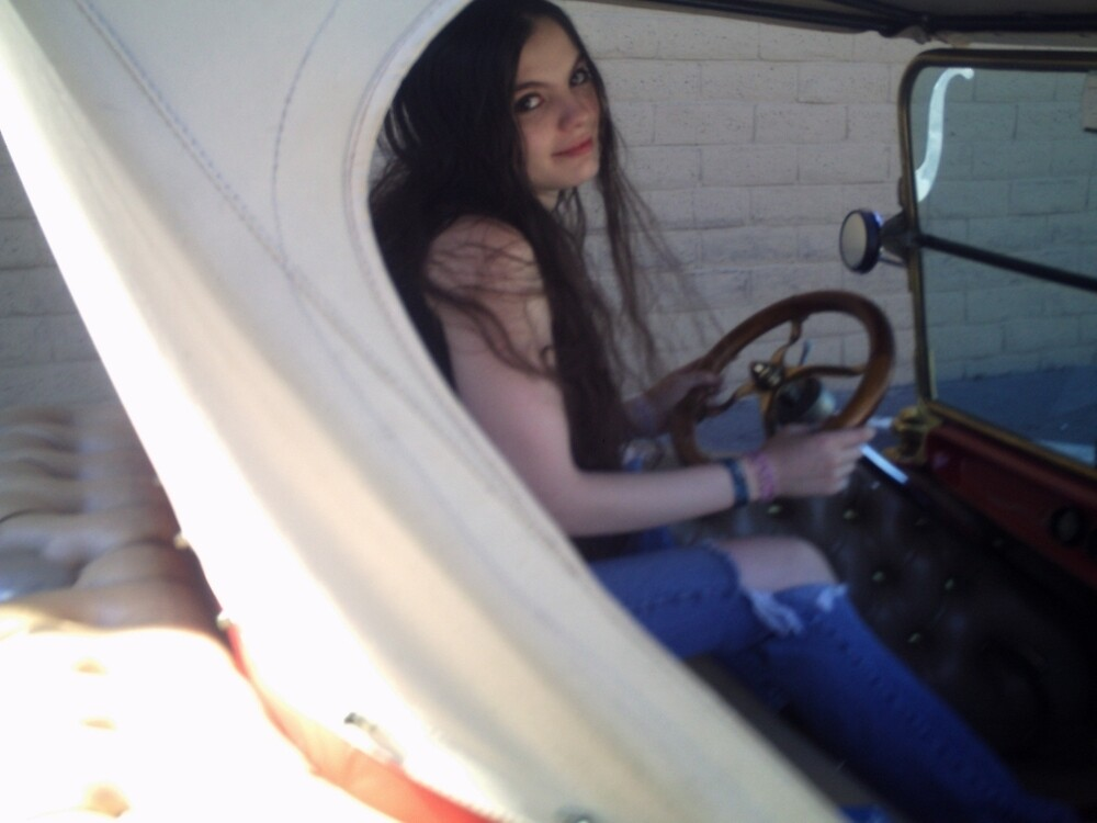 Me In The 1923 Ford Roadster by SxySindy