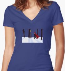 RWBY - Red Ruby Rose Women's Fitted V-Neck T-Shirt