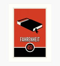 Fahrenheit 451 Art Print