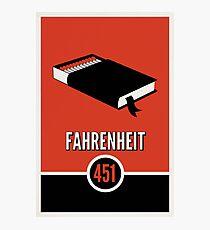 Fahrenheit 451 Fotodruck