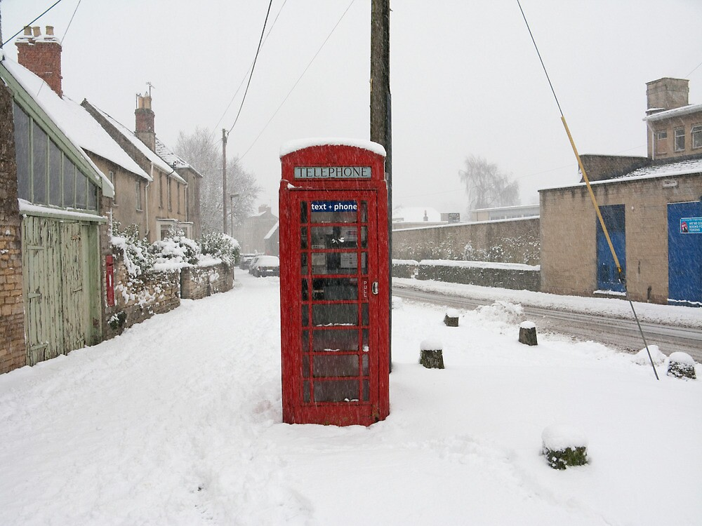 Telephone box in the Snow by Flo Smith