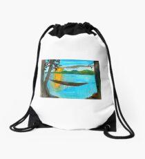 John's Hammock on the Missouri River Drawstring Bag