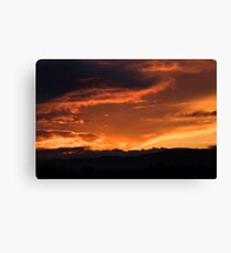 Western Sunset Canvas Print