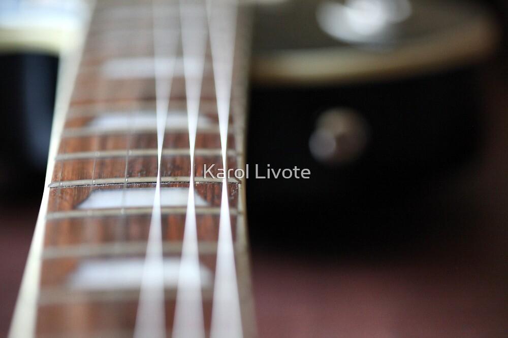 Guitar Close up by Karol Livote