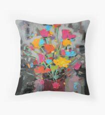 Bouquet of Colour Throw Pillow