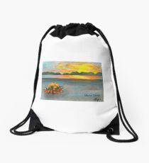 Pelican Island, Missouri River Drawstring Bag