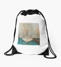 Boat docks in St. Augustine Drawstring Bag