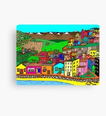 Valparaiso inspired village Canvas Print