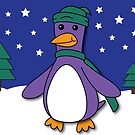 Winter Penguin by pondlifeforme