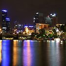 Melbourne over the Yarra River by kcy011