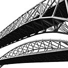Port Huron - Blue Water Bridge by Tina Logan
