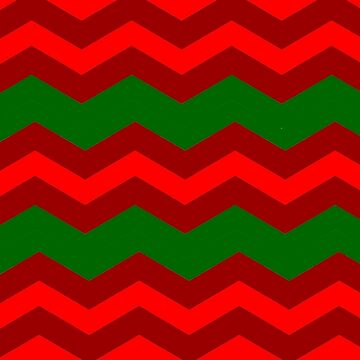 CHRISTMAS CHEVRON PATTERN | DARK RED | DARK GREEN | BRIGHT RED | FOR HOME DECOR AND CLOTHING by ozcushionstoo