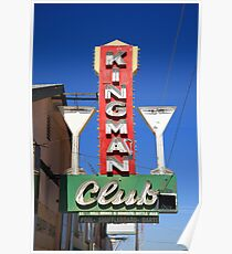 Route 66 - Kingman Club Poster