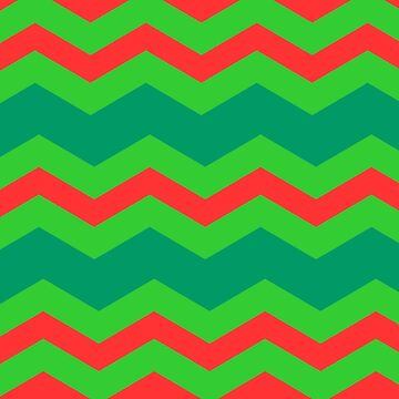 CHEVRON CHRISTMAS IN BRIGHT ORANGE | BRIGHT GREEN  DARK GREEN |FOR HOME DECOR AND CLOTHING by ozcushionstoo