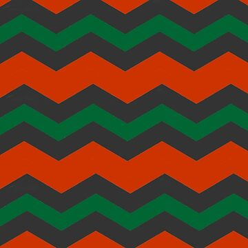 CHEVRON CHRISTMAS PATTERN IN GREEN | BURNT ORANGE | DARK GREEN FOR XMAS HOME DECOR AND CLOTHING by ozcushionstoo