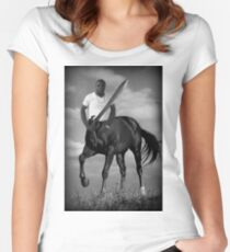 WARRIOR CENTAUR....PILLOW-TOTE BAG,GRAPHIC TEE SHIRT-SCARF-ECT... Women's Fitted Scoop T-Shirt