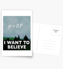 I Want to Believe Postcards
