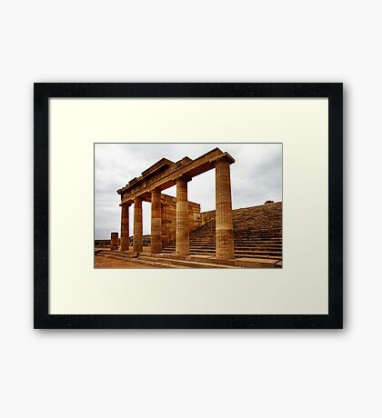 Temple of Athena, Acropolis of Lindos, Rhodes Framed Print