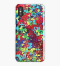 POND IN PIGMENT Bright Bold Neon Abstract Acylic Floral Aquatic Painting iPhone Case