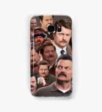 Ron Swanson Tile Samsung Galaxy Case/Skin