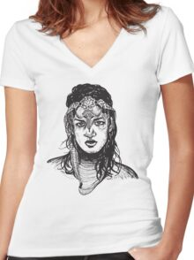 Icon: M.I.A. Women's Fitted V-Neck T-Shirt