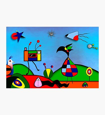 My Homage To Miro - The Raven King and I Photographic Print