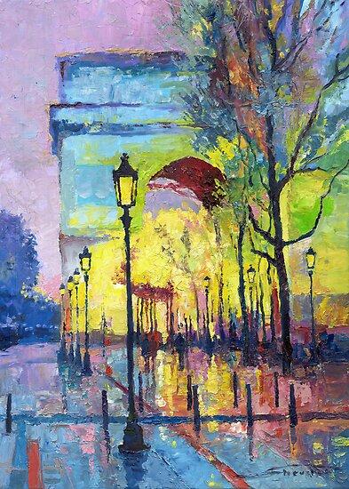 Paris Arc de Triomphie  by Yuriy Shevchuk