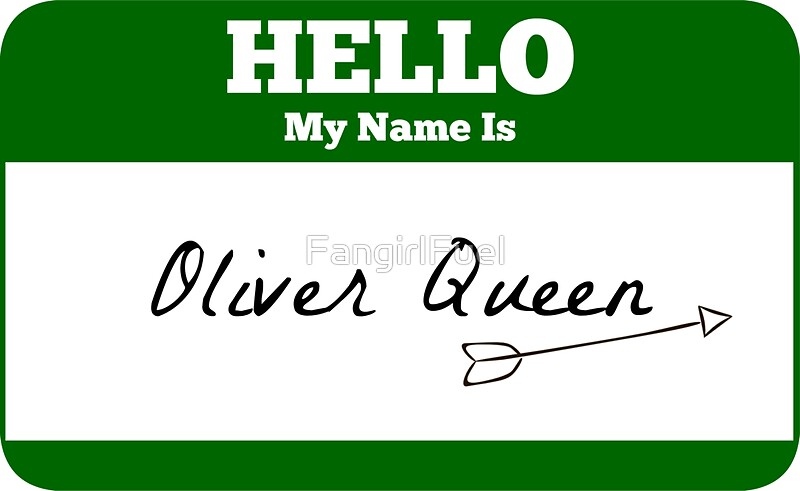 """Hello My Name Is Oliver Queen Sticker - Green Arrow ..."