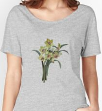 Lent Lily Spring Bouquet Vector Women's Relaxed Fit T-Shirt