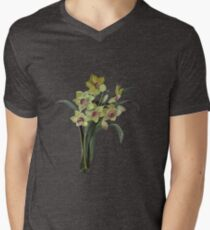 Lent Lily Isolated Mens V-Neck T-Shirt