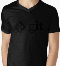 Git - Black logo Mens V-Neck T-Shirt