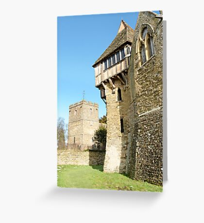 Stokesay Castle and Church Greeting Card