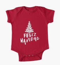 Feliz Navidad with Tree One Piece - Short Sleeve