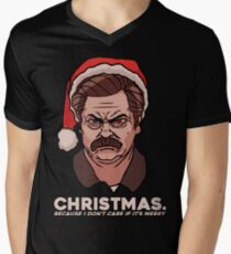 Ron Swanson Christmas Men's V-Neck T-Shirt