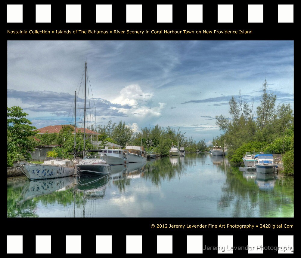 Nostalgia Collection • Islands of The Bahamas • River Scenery in Coral Harbour Town on New Providence Island by Jeremy Lavender Photography