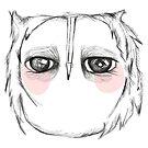 Skeptical owl by annieclayton