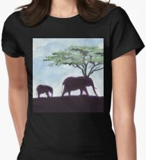 Africa's Grandest Animal Women's Fitted T-Shirt