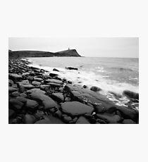 Kimmeridge bay in black and white Photographic Print