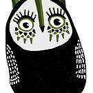 Green head owl by annieclayton