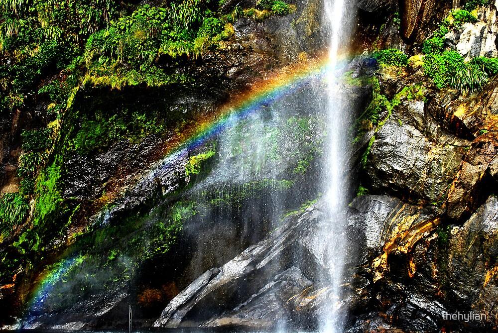 rainbow fall by thehylian