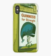 { Guinness for strength - vintage beer poster } iPhone Case/Skin
