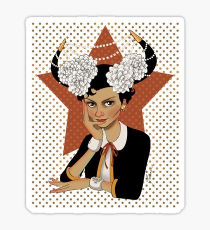 Chanel: the Little Black Bull Sticker