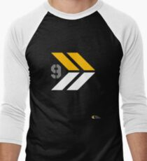 Arrows 1 - Yellow/Grey/White Men's Baseball ¾ T-Shirt