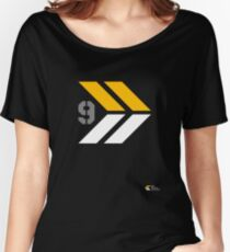 Arrows 1 - Yellow/Grey/White Women's Relaxed Fit T-Shirt