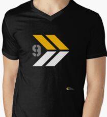 Arrows 1 - Yellow/Grey/White Men's V-Neck T-Shirt
