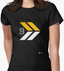 Arrows 1 - Yellow/Grey/White Women's Fitted T-Shirt