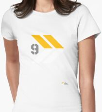 Arrows 1 - Yellow/Grey/White Womens Fitted T-Shirt