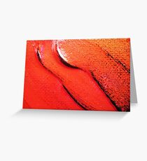 Red Flower Petals Greeting Card