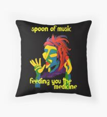 Spoon of music Throw Pillow