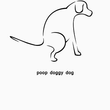 Poop Doggy Dog - Black by Teangi